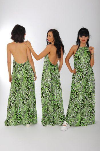 Rochie verde print