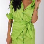 Camasa verde cu maneca lunga
