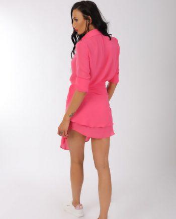 Camasa roz cu maneca lunga